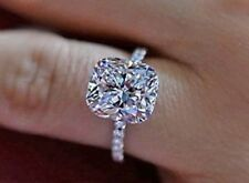Certified Excellent Cushion Cut 2.50Ct Diamond Engagement Ring 14K White Gold
