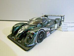 IXO 1:43 Scale Die-cast Bentley 2003 Le Mans Kristensen/Capello/Smith 1st Place