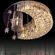 60cm K9 Modern Crystal Round LED Moon Star Light Ceiling Lamp Chandelier Lights