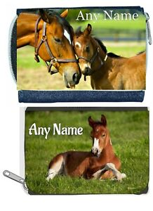 Personalised Denim Purse With HORSE / FOAL Design