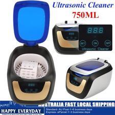 750ml Digital Ultrasonic Cleaner Heater Timer Industrial Ultra Sonic Tank Clean