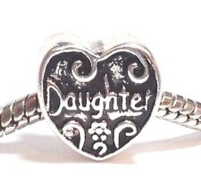 DAUGHTER_Slider Bead for Silver European Charm Bracelet_Mother Child Love_i13