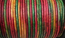 Gypsy Kinte Natural Dye Round Leather Cord 1.5mm 25 meters (27.34 yards)