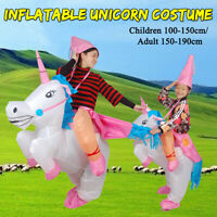 Halloween Inflatable Unicorn Costume Cosplay Carnival Party Blow Up Fun Dresses