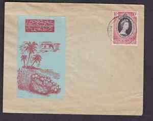 British New Hebrides 1953 FDC 1st day cover QE II coronation Hodson add on cache