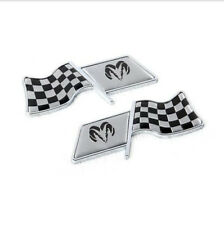 2pcs Grid Racing Car Fender Decal Emblem Badge Sticker For Ram
