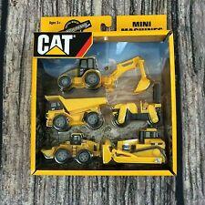 CAT Mini Machines Set of 5 Caterpillar Construction Equipment Toys - Brand New !