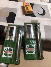 More details for vintage castrol tyre pressure gauge and tread measure set in original wallet
