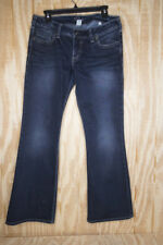 SILVER JEANS PIONEER BOOTCUT - Dark Wash Faded Flap S Pocket Sz 32x31 Boot Cut