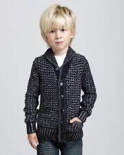 Rag & Bone Neiman Marcus Boy's Cardigan Size Small Black Gray Wool - New