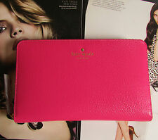 Kate Spade New York Wallet Travel Grand Street Sweetheart Pink NEW $248