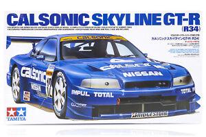 Tamiya 1/24 Nissan Skyline R34 GT-R Calsonic Scaled Plastic Model Kit