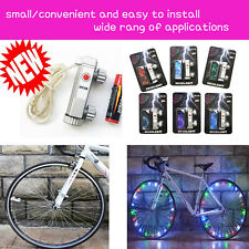 Bicycle LED Bike Cycling Rim Lights LED Wheel Spoke Light String Strip Lamp*4