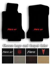 Pontiac Fiero 2pc Velourtex Carpet Front Floor Mats - Choose Color & Logo (Fits: Pontiac Fiero)