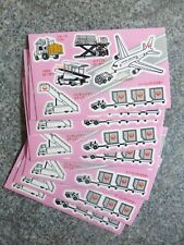 JAPAN AIRLINES (JAL) 8 x CHILDS INDIVIDUAL SMALL STICKER SHEETS VERY COLLECTABLE