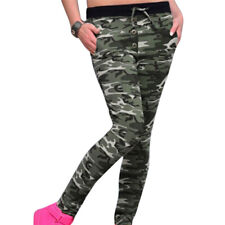 Women Fashion Camouflage HAREM Sweatpants Jogger Loose Female High Waist Pants F Green XL