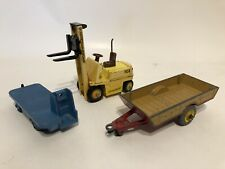 Dinky Toys 14A BEV Electric Truck - 320 Farm Trailer - 404 Conveyancer Fork Lift