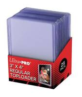 "1,000 Ultra Pro Regular Series 3""x4"" Toploaders Case 1000 - 40 Sealed 25ct Packs"