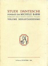 Michele Barbi STUDI DANTESCHI  Ed. Le Lettere 2001