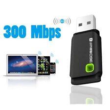 Hot USB 300MBPS WIFI Wireless Adapters PC Dongle Windows 10 8 7XP Vistas Black