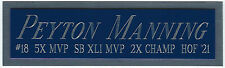PEYTON MANNING  COLTS NAMEPLATE AUTOGRAPHED SIGNED FOOTBALL-HELMET-JERSEY-PHOTO