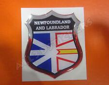 3D Emblem Sticker Resin Domed Flag Newfoundland and Labrador - Adhesive Decal