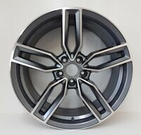 "4x 20"" alloys & tyres GUNMETAL & POLISH FITS MERCEDES,AUDI A4,A5 A8 A7 VW Passat"