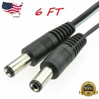 6FT DC extension 5.5mm x 2.1mm power cord CCTV extender cable Male to Male A241