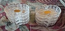 """8--24% Lead Crystal Individual STACKING ASHTRAYS-Western Germany-3 3/8"""" x 2 3/4"""""""