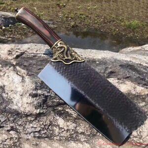 Genuine LongQuan Meat Cleaver Chopping Knife Kitchen knife steel 520g 龍泉斬切刀#1846