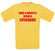 Save a whistle blow a lifeguard t-shirt | funny tee novelty gift tshirt 0047