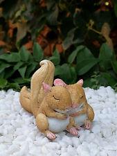 Miniature Dollhouse FAIRY GARDEN ~ Sleeping Squirrel Friends Squirrels ~ NEW