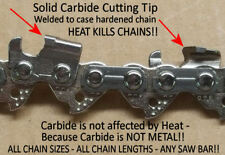 """S63 *SOLID CARBIDE* Chainsaw Chain 18"""" 3/8 .050"""" Chain 63 Link Type 91 SEE VIDEO"""