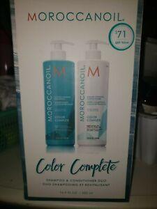 Moroccanoil COLOR COMPLETE Shampoo & Conditioner DUO 16.9OZ Each +PUMPS