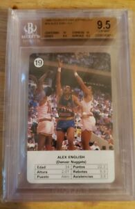 1988 Fournier NBA Estrellas Alex English #19 BGS 9.5