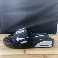 Nike Air Max 90 Slide Mens BQ4635-002 Black White Strap Slides Sandals Size 7