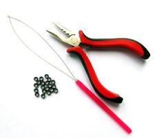 Hair Extension Kit- Hoop Loop Tool Pliers Micro Beads Pulling Threader Styling
