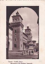 FERRARA - Castello Estense - Monumento a Fra Girolamo Savonarola 1953
