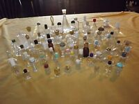 VINTAGE 65 PERFUME BOTTLES VARIOUS SIZES EMPTY