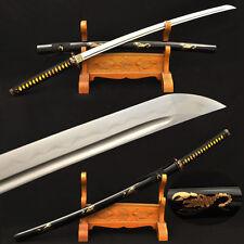 Clay Tempered Japanese Samurai Scorpion Sword Katana Damascus Folded Steel Sharp