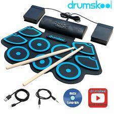 Electronic Drum Kit Portable Electric drum set battery speaker sticks Drumskool