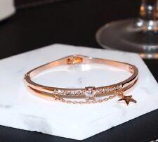 Luxury Women's Toggle Bracelet Bangle Star Rose Gold Islamic Zircon Rhinestone