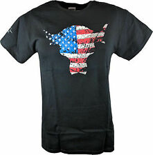 The Rock Team Bring It USA Bull Red White Blue Mens T-shirt