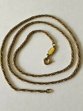 Vintage 14k Yellow Gold Fuchsia Silk Necklace 585 Solid 2 Grams