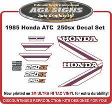 1985 HONDA ATC 250sx  Reproduction Decal Set  250 sx