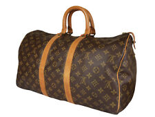 LOUIS VUITTON Keepall 45 Monogram Canvas Leather Boston Bag LH3606