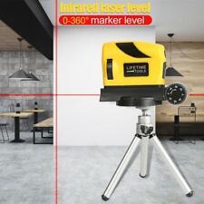 360° Niveau Laser Rouge +Trepied Intérieur,Extérieur Traverser Ligne Mesure