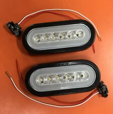 (2) Clear Optronics GloLight Led Sealed Dot Back Up Lights Bul111cb
