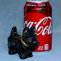 Christmas Ornament Animal DOG Ceramic SCOTTIE Black T/F RANA'S STORE USA SELLER