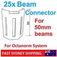 NEW Bulk of 25x Beam Extrusion Connector for 50mm Octanorm System & Others (BC50
